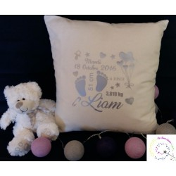 Coussin de Naissance authentique écru Evy Dream Creation