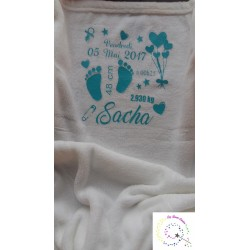 Couverture de naissance écru Evy Dream Creation