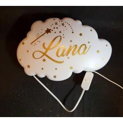 Lampe murale nuage personnalisée