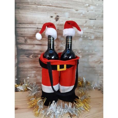 Sac à bouteilles personnalisé Père Noel
