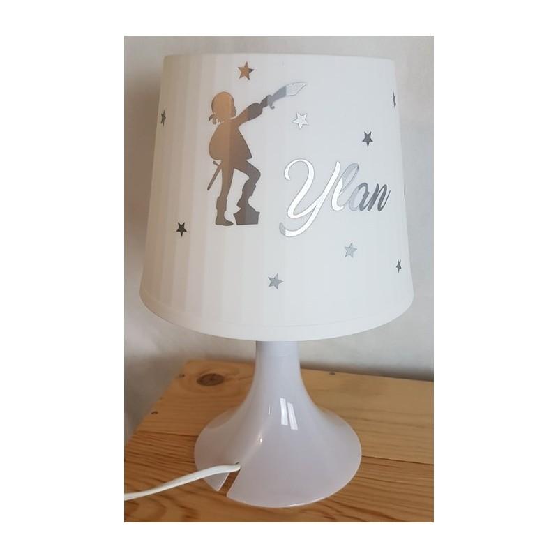 lampe personnalisée pied blanc