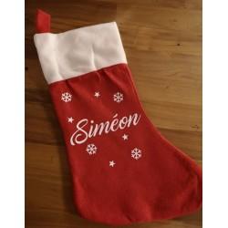 Chaussette de Noël personnalisée