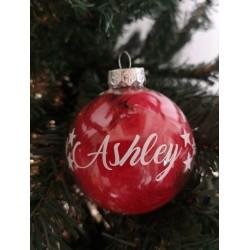 Boule de Noël plumes couleurs personnalisée