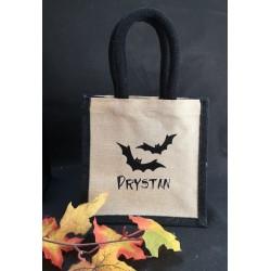 Sac Halloween chauve-souris personnalisé par Evy Dream Création