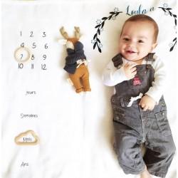 Couverture photo bébé personnalisée par Evy Dream Création